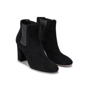 M Gemi black suede bootie